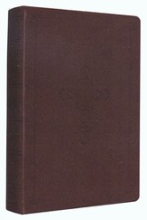 ESV Personal Reference Bible, Brown Imitation Leather with Antique Cross Design