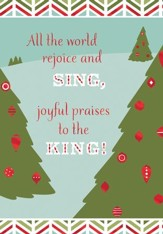 All the World Rejoice and Sing Cards, Box of 16