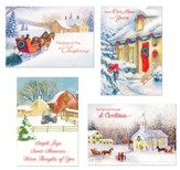 Nostalgic Christmas Assorted Cards, Box of 24