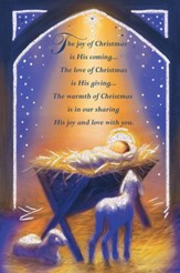 The Joy Of Christmas Is His Coming Cards, Box of 18