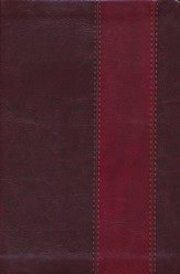ESV Single Column Heritage Bible--soft leather-look, brown/burgundy with band design