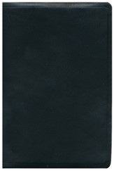 ESV Single Column Heritage Bible--calfskin leather, black