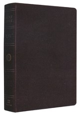 ESV Single Column Heritage Bible--genuine leather, black
