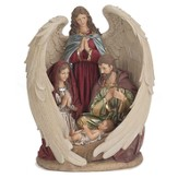Holy Family in Angel Wings Figure