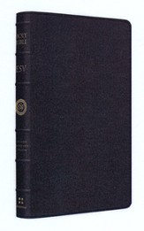 ESV Large Print Thinline Reference Bible, Limited Edition, Goatskin