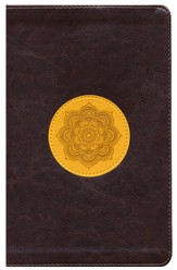 ESV Thinline Bible, TruTone, Chocolate/Goldenrod, Emblem Design