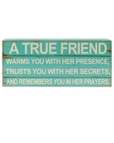 True Friend Wall Sign