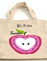 Personalized, Let Wisdom Enter Your Heart, Teacher's  Tote