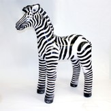 Small Zebra Inflatable Animal, 29 High
