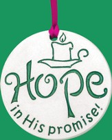 Hope In His Promise, Porcelain Ornament