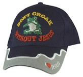 Don't Croak Without Jesus Cap, Navy
