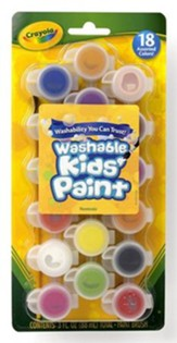 Crayola, Washable Kids Paint, 18 Pieces