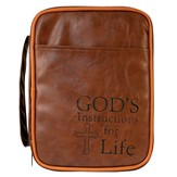 God's Instructions For Life Bible Cover, Brown, Large