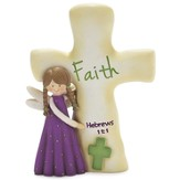 Faith Angel with Cross Figurine