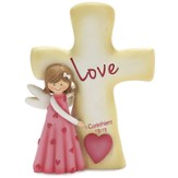 Love Angel with Cross Figurine