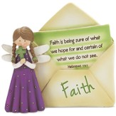 Faith Angel with Envelope Figurine