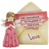 Love Angel with Envelope Figurine