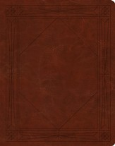 ESV Single-Column Journaling Bible--soft leather-look, brown with window design
