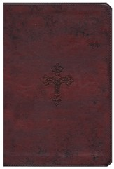ESV Student Study Bible, TruTone, Walnut, Weathered Cross Design - Slightly Imperfect