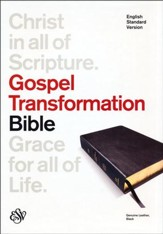 ESV Gospel Transformation Bible--genuine leather, black