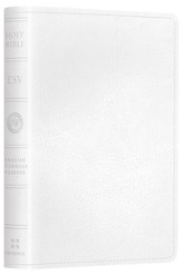 ESV Pocket New Testament with Psalms and Proverbs--soft leather-look, white - Slightly Imperfect