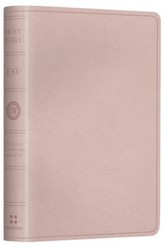 ESV Pocket New Testament with Psalms and Proverbs--soft leather-look, pink - Imperfectly Imprinted Bibles
