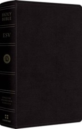 ESV Large Print Personal Size Bible, Black Genuine Leather