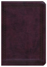 ESV Large Print Compact Bible (TruTone, Mahogany, Border Design), Leather, imitation