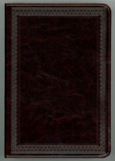 ESV Single Column Heritage Bible (TruTone, Deep Brown, Border Design), Leather, imitation