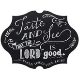 Taste and See That the Lord Is Good Chalkboard Wall Art
