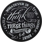 Whatever Is True Chalkboard Wall Art