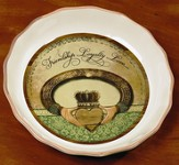 Friendship Loyalty Love Claddagh Pie Plate
