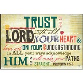 Trust In the Lord With All Your Heart Plaque