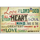 Love the Lord Your God Plaque