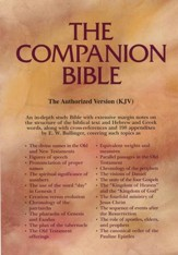 KJV Companion Bible, genuine leather, black