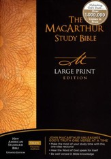 NASB MacArthur Study Bible Large Print Hardcover - Slightly Imperfect