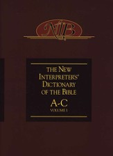 The New Interpreter's Dictionary of the Bible: Volume One: A-C - Slightly Imperfect