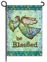 Be Blessed with Wings Flag, Small