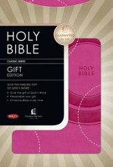 NKJV Gift Bible - LeatherSoft/Lotus Pink