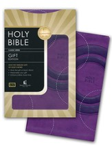 KJV Gift Bible - LeatherSoft/Grape