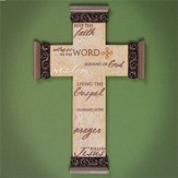Ministry Words Wall Cross