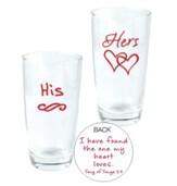 His and Hers, I Have Found the One, Glasses, Set of 2