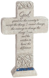 Serenity Prayer Tabletop Cross