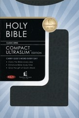 NKJV Compact Ultraslim Bible - LeatherSoft Grain Black