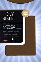 NKJV Compact Ultraslim Bible - LeatherSoft Grain Burgundy