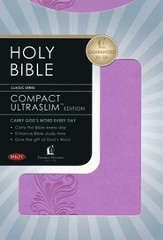 NKJV Compact Ultraslim Bible - LeatherSoft Burnish Violet, Filigree