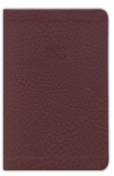 KJV Compact Ultraslim Bible - LeatherSoft Grain Burgundy
