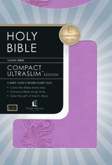 KJV Compact Ultraslim Bible - LeatherSoft Burnish Violet, Filigree