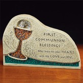 First Communion Blessing Mosaic Plaque