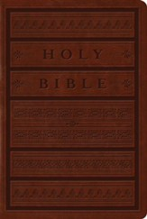 ESV Single Column Heritage Bible, TruTone, Brown with Engraved Mantel Design